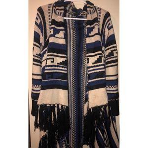 Cozy Tribal print cardigan